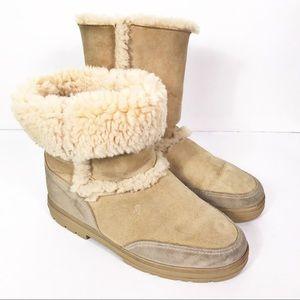 Ugg Australia Tan Sundance Short Sheepskin Boots